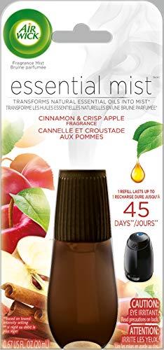 Air Wick Essential Oils Diffuser Mist Refill, Cinnamon and Crisp Apple,...