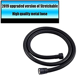 Stretchable Shower Hose, Shower Head Hose Replacement, Extra Long Handheld Shower Head Hose with Brass Nut, Oil Rubbed Bronze Finish