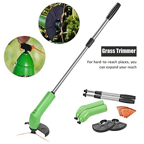 Best Bargain Electric Grass Trimmer Handheld Telescopic Grass Trimming Tool Cordless String Trimmer ...