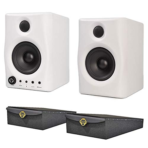 Monkey Banana Gibbon AIR Studio-Monitor-Boxen Weiss + 2x Monkeybase