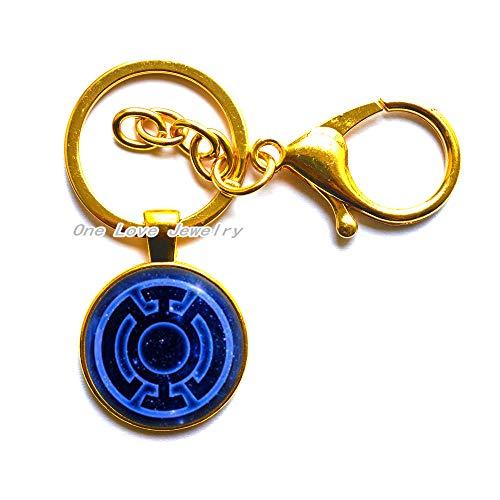 Llavero azul de la linterna, llavero azul de la linterna, llavero del videojuego, regalos del arte, para ella, para él, TAP097