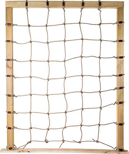 small foot 11876 Kletternetz mit Achterhaken, zur Befestigung an dreiseitigen Holzrahmen, für Kinder ab 3 Jahren Spielzeug