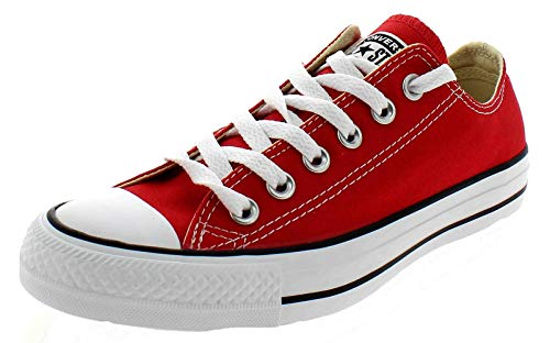 Converse Chuck Taylor All Star Canvas Low Top Sneaker,Red,4.5 US Men/6.5 US Women