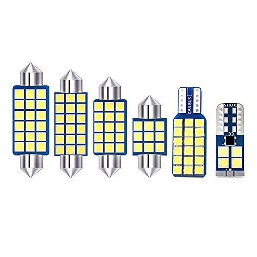 para Hyundai Santa Fe 3 DM 2013 2014 2015 2016 2017, 7 uds Bombillas LED para Coche, lámpara de Lectura de Domo Interior, Accesorios de luz de Espejo de vanidad