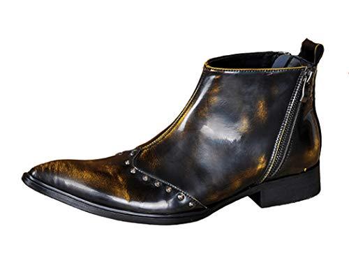 Mannen Patent Lederen Enkellaarzen Rits Beide kanten wees teen Casual laarzen Mode Persoonlijkheid Martin laarzen voor Office Business Party Bruiloft