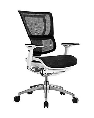 iOO Eurotech Office Ergonomic Chair Black Mesh and White Frame (NO Head Rest)
