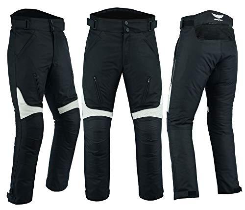 Heren Motorfiets Motorfiets Broek Broek Waterdicht Verwijderbare Gepantserde Textiel Codura Stof Zwart Grijs Beschermende Kleding Waist 42 Leg 34 Zwart/Grijs