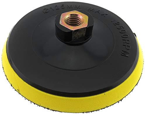 PRODIAMANT Aufnahme Teller 125 mm M14 für Schleifpads mit Klett Verschluss 125mm