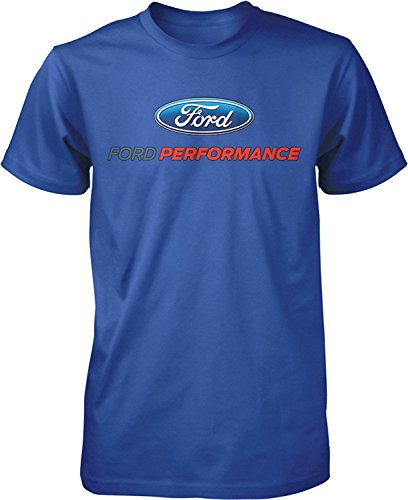 Ford Performance T-Shirt Mustang GT ST Racing (Front Print), Royal Blue, 3XL