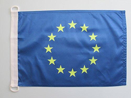 AZ FLAG Bandera Nautica de Europa 90x60cm - Pabellón de conveniencia Union Europea - UU.EE 60 x 90 cm Anillos