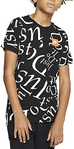 Nike Camiseta Sportswear de Manga Corta Negro para Niño