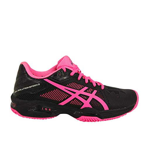 ASICS Gel Solution Speed 3 Clay Negro Fucsia Mujer E651N...