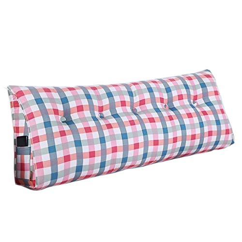 J-Kissen Baumwolle Leinwand Druck Lange Kissen Sitzkissen, for Bett Rückenpolster Große Taille Kissen, for Schlafsofa Startseite (Color : #2, Size : 135cm)