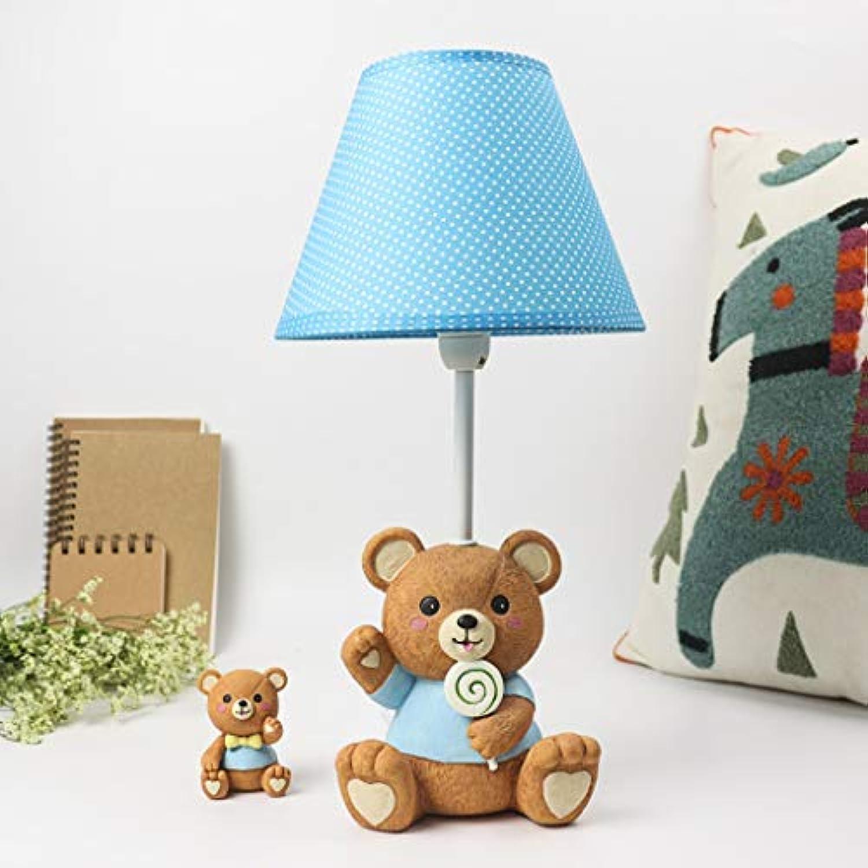 WZJ-TISCHLEUCHTE Romantische und warme Kinderzimmer Br Cartoon Tischlampe Schlafzimmer Bett Lesetisch (Farbe   Blau, Gre   Dimming Switch)