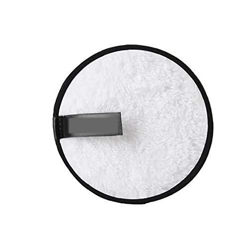 Maquillage Microfibre Tampons Démaquillants Réutilisables Visage Chiffon Doux Du Visage Et Soins De La Peau Débarbouillette Puff Nettoyage Double Face Wipe (Blanc)