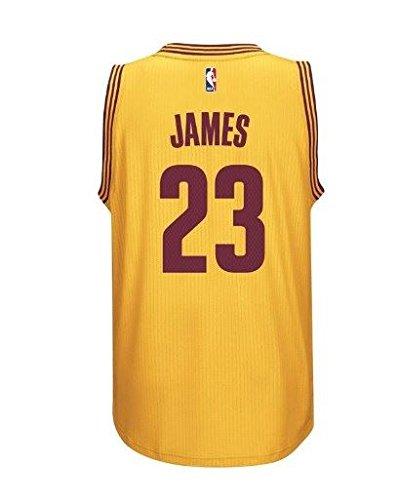 Oro da uomo Adidas Lebron James Cleveland Cavaliers Swingman jersey, Bambino, Old Skool Pro, s