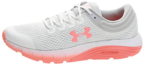 Under Armour UA W Charged Bandit 5, Zapatillas de Running Mujer, Blanco White Halo Gray Peach Plasma 101 101, 38 EU
