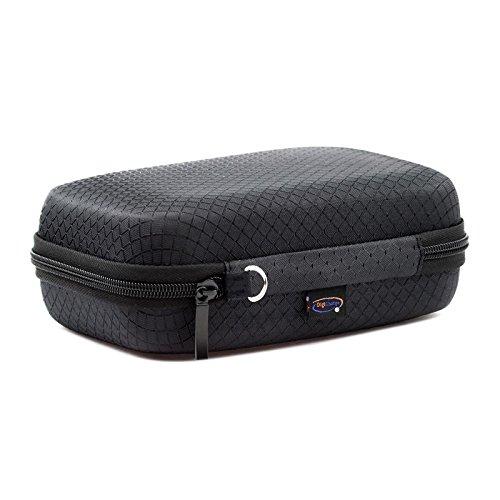 "Black Hard Carry Case For TomTom Go Premium 5"" Basic 5"" Essential 5 Inch Go 5200 5100 520 510 51 Go Professional 5'' Tom Tom BV Go Basic 13 cm 5 Inch GPS Sat Nav With Accessory Storage and Lanyard"