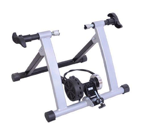 homcom - Rullo per Bicicletta Pieghevole per Allenamento in Casa 54.5 x 47.2 x 39.1 cm Argento