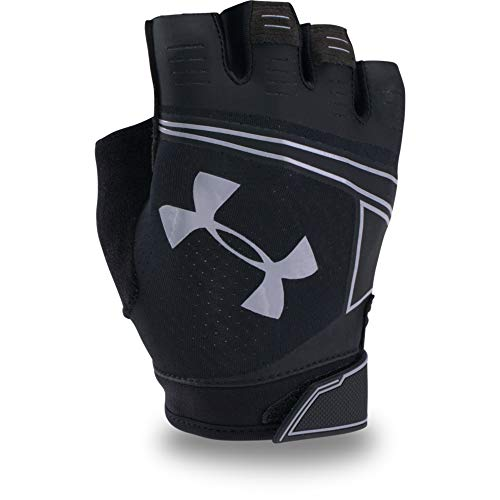 Under Armour Men's CoolSwitch Flux Training Gloves, Black (001)/Steel, Small/Medium