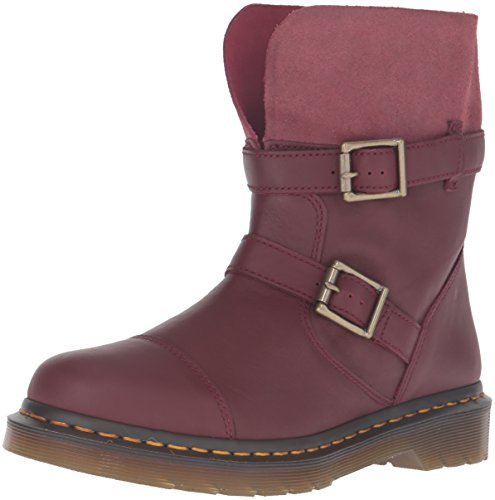 Dr. Martens Kristy Cherry Red Virginia Red Slouch Rigger Boot 20876600, Rot, UK5