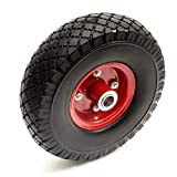 10 Inch PU 3.00-4 a Prova di Forature Solido Pneumatico & Offset Hub Metallo Ruota Industriale Sacco Camion