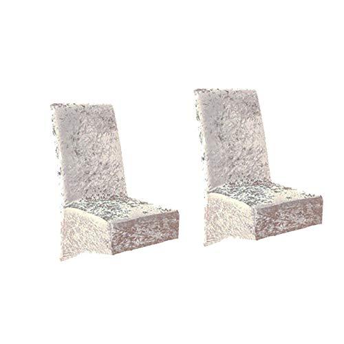 DQWGSS Ersatzsitzbezug 2er Pack Esszimmerstuhlbezüge, Stuhlbezüge aus massivem Samt Stuhlbezüge Abnehmbare Stretch- und Stretch-Esszimmerstühle Sitzbezüge für Autos Esszimmerstuhlbezüge