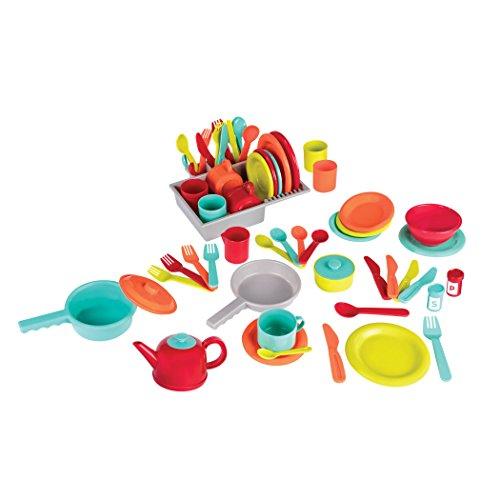 Battat lujos juguetes de accesorios de cocina (71piezas, incluye ollas y sartenes).