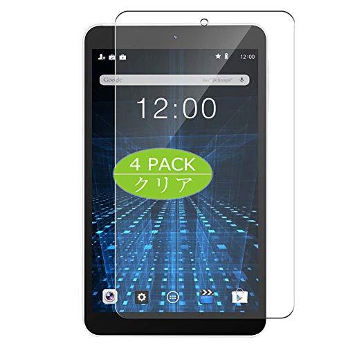 VacFun 4 Piezas Claro Protector de Pantalla, compatible con Dragon Touch S8 8', Screen Protector Película Protectora(Not Cristal Templado) NEW Version