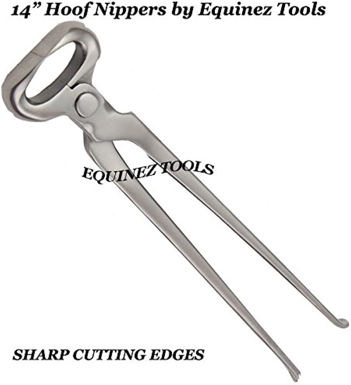 Hoof Nipper 14  Vanadium Steel Farrier Tool in Dull Finish