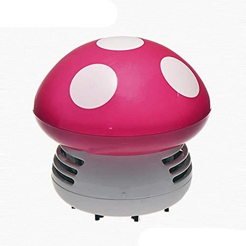 Dmqpp cilinderstofzuiger stofzuiger 9.5 * 9.5 * 9cm 2.5W droog vacuüm draagbaar, roze