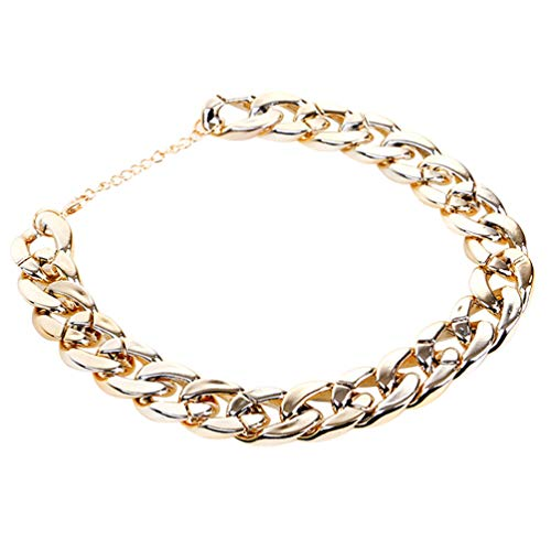 UKCOCO Cadena de Oro para Collar de Perro Collar de Oro para Mascotas Colgante de Cadena de Metal Ligero Joyería Disfraz de Cachorro para Gato Pequeño