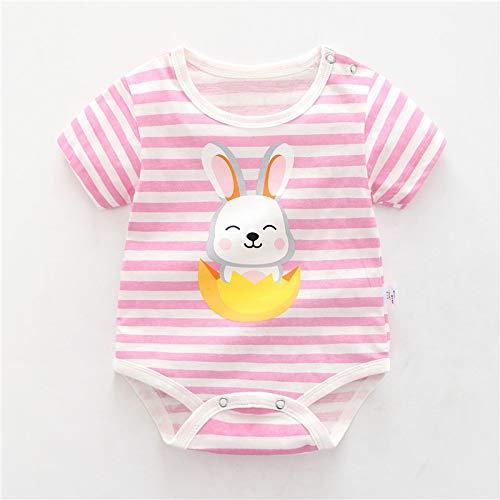 LiuQ Baby Strampler Neugeborenes Baby-Mädchen-Karikatur-Baumwollstrampler Baby-Baby-Tasche Fart Weste Overall Sommer-dünne Penguin Pyjamas Outfit (Color : Silver, Kid Size : 12M)