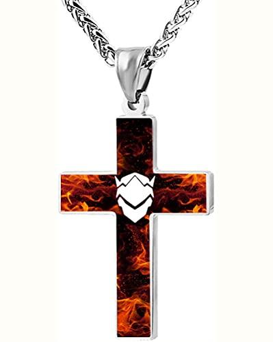 Overwatch Unisex-Adulte Sobresaliente Collar de la cruz exquisitamente Cross Pendant Torque para los hombres Mujeres Exquisitos Accesorios de la Cruz Unisex Decoraciones cruzadas Unisex elegante y luj