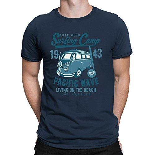 CVLR® Surfing Camp - Surfer Shirt bus Bulli Camper T-shirt - Verkrijgbaar in 10 kleuren