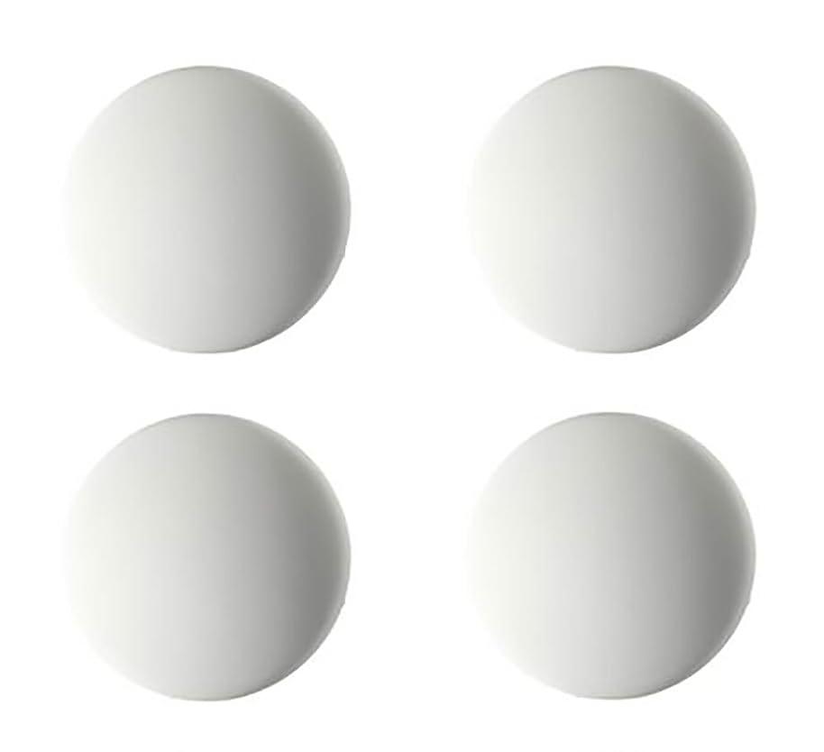 衣服原子炉モックGSP ドアノブ 壁紙 ぶつかり防止 クッション シリコンで壁紙が傷がつかない 貼るだけで簡単 小さな足がついた家具のこすれ防止にも 4個セット (ホワイト) [並行輸入品]