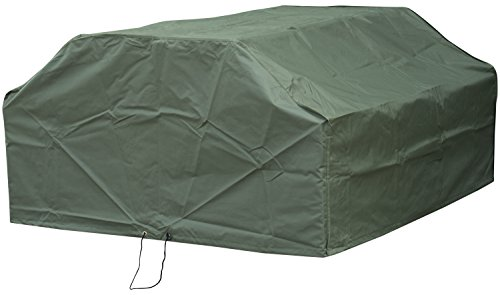Woodside 6 Seater Square Outdoor Garden Picnic Table Cover 1.57m x 0.7m-1.45m x 0.5m-0.76m/5.2ft x 2.3ft-4.8ft x 1.6ft-2.5ft