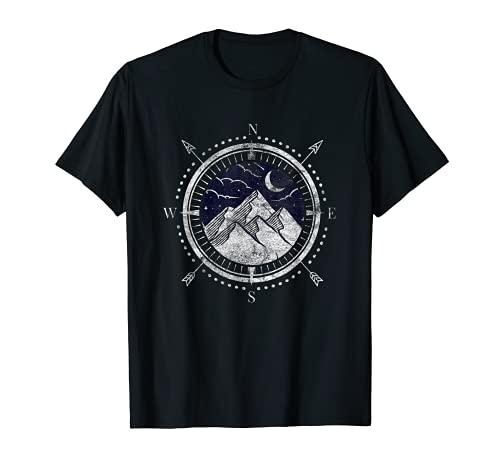 Kompass Urlauber Wandern Zelten Camping Reisenden Natur T-Shirt
