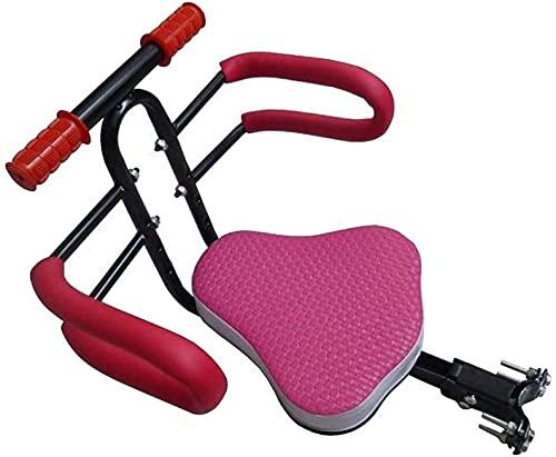 X&Y Asiento Delantero Seguro para niños para Bicicletas y Bicicletas eléctricas, lanzadera rápida Plegable para niños, cojín de Silla de Montar con reposabrazos y Pedal, Portador de Bicicletas.