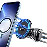 Ciencimy Magnetic Car Mount Compatible with MagSafe and iPhone 13 Pro Max Mini/iPhone 12 Pro Max Mini, 360° Adjustable Strong Magnet Air Vent Phone Holder