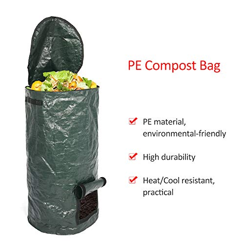 Check Out This Yard Waste Bags Environmental Cloth Planter Kitchen Waste Disposal Organic Compost Ba...