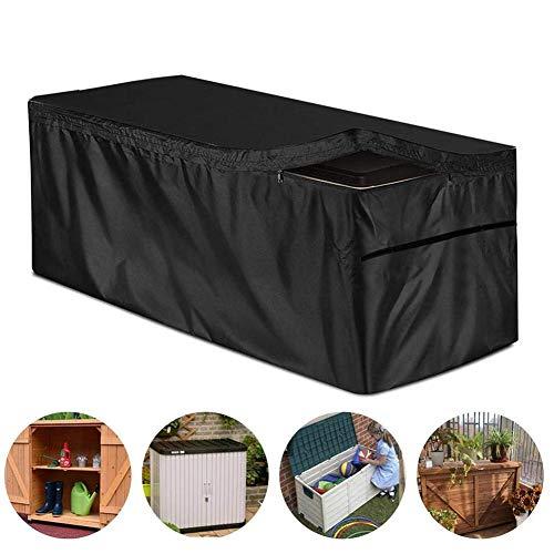 Wood.L Deck Box Cover Mit Reißverschluss, Garten Auflagenbox Kissenbox Aufbewahrungsbox Schutzhülle Wasserdicht UV-Schutz