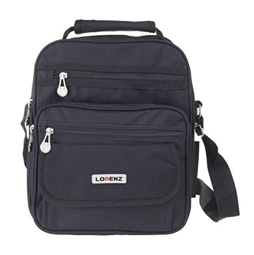 Large Men's Flight Gadget Bag Organiser Carry on Ryanair 2nd Bag 29 x 24 x 13 cms - Black