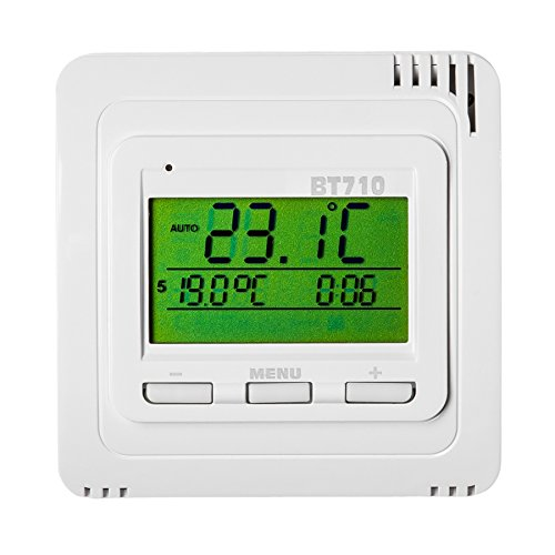 TERMOSTATO DIGITAL INALAMBRICO CALEFACCION PROGRAMABLE BLANCO PANTALLA LCD (Tipo 3 | No. 401343)