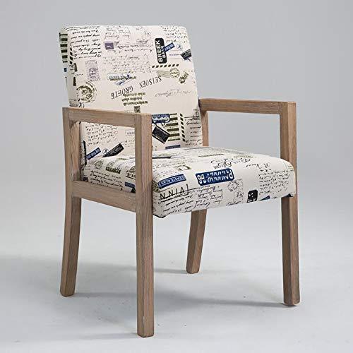 Retro Massivholz-Dining Chair Moderne Minimalist Zurück Stuhl aus Alt Massivholz Sessel Hotel Restaurant Dining Chair Kaffeemaschine Sessel Lounge Chair,P,A1