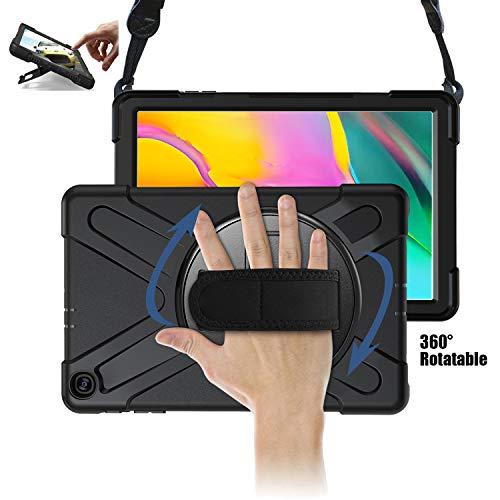 TH000 Hülle für Samsung Galaxy Tab A 10.1 2019 Stoßfeste robuste Ganzkörper-Schutzhülle mit Ständer, Griff & Schultergurt 10,1 Zoll-Schutz SM-T515 SM-T510