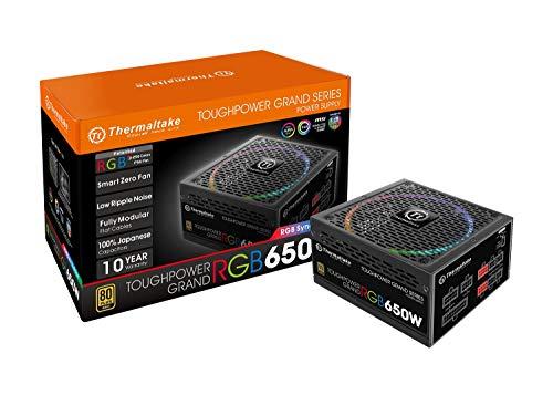 Thermaltake Toughpower Grand RGB 650W 80+ Gold Fully Modular - RGB Sync Edition - Fuente de alimentación, Color Negro