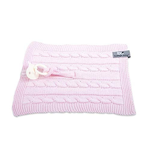 Baby's Only - Schnullertuch Cable baby rosa