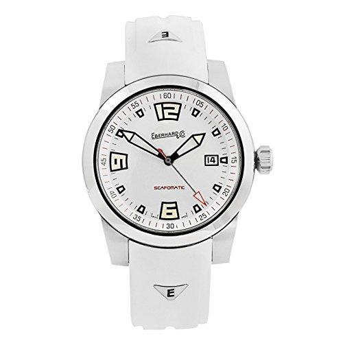 Eberhard Scafomatic Automatik Uhr, SW 200-1, 42mm, 5 atm, Weiss, 41026.1.CU