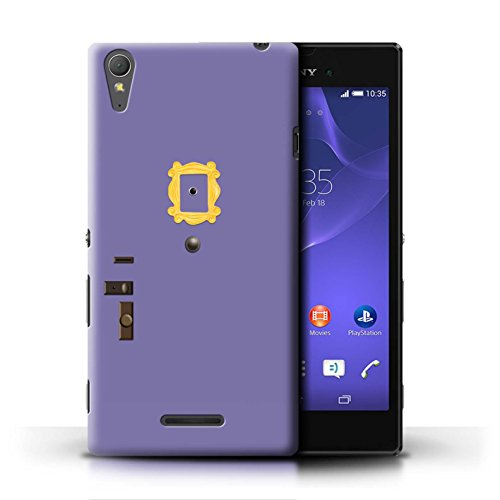 Hülle Für Sony Xperia T3 Komisch Sitcom TV Parodie Lila Tür Monica Design Transparent Ultra Dünn Klar Hart Schutz Handyhülle Case
